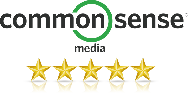 5 out of 5 Stars - Common Sense Media | QwertyTown